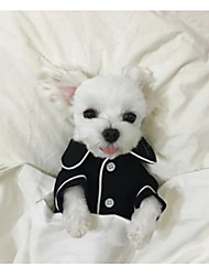 cheap -Dog Pajamas Dog Clothes Casual/Daily British White Black Pink Light Blue Costume For Pets