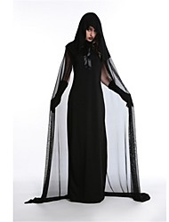 Wizard/Witch Angel/Devil Vampire Cosplay Costumes Halloween Festival/Holiday Halloween Costumes Black Fashion