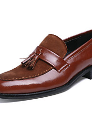 cheap -Men's Shoes Synthetic Fall Winter Formal Shoes Loafers & Slip-Ons Lace-up For Casual Party & Evening Brown Black