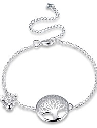 Women's Anklet/Bracelet Silver Plated Alloy Natural Friendship Gothic Fashion Vintage Bohemian Punk Hip-Hop Rock Geometric Tree of Life