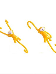 4 PCS Just Hanging Kitchen Hooks YELLOW Kitchen Home Funky Gift Monkey Business Kitchen Tools