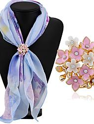 baratos -Mulheres Broches - Strass Clássico, Fashion Broche Branco / Branco / Rosa Para Diário / Casual