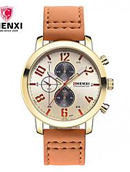 CHENXI® Pánské Hodinky k šatům Módní hodinky japonština Křemenný Kůže Kapela Cool Běžné nošení Luxusní Orange