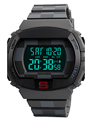 SKMEI Men's Sport Watch Digital Watch Wrist watch Japanese Digital LED Calendar Chronograph Water Resistant / Water Proof Dual Time Zones