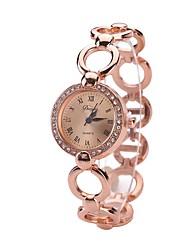 cheap -Men's Women's Dress Watch Fashion Watch Wrist watch Unique Creative Watch Chinese Quartz Alloy Band Charm Elegant Casual Green Gold
