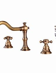 economico -Set di rubinetti - Separato Rame anticato A 3 fori Due maniglie Tre fori