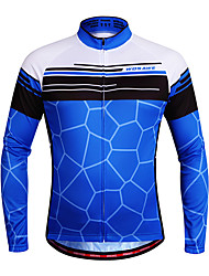 cheap -WOSAWE Cycling Jersey Unisex Long Sleeves Bike Jersey Top Quick Dry Breathability Stretchy Polyester Spandex Classic Autumn/Fall Mountain