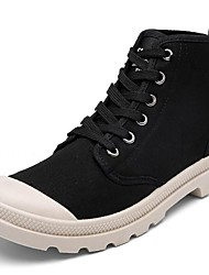 Men's Shoes Fabric Spring Fall Light Soles Sneakers Lace-up For Casual Khaki Yellow Black
