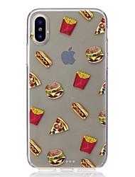 Θήκη Za Apple iPhone X iPhone 8 Otporno na trešnju Ultra tanko Uzorak Kućište Hrana Mekano TPU za iPhone X iPhone 8 Plus iPhone 8 iPhone