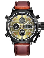Муж. Модные часы Кварцевый Натуральная кожа Группа Повседневная Коричневый Хаки
