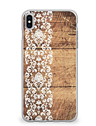 cheap -For iPhone X iPhone 8 Case Cover Ultra-thin Pattern Back Cover Case Wood Grain Lace Printing Soft TPU for Apple iPhone X iPhone 8 Plus