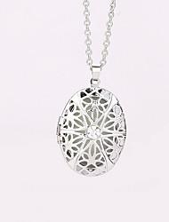 cheap -Women's Locket Oval Shape Geometric Pendant Necklace Alloy Pendant Necklace Party Halloween