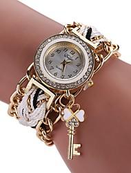 Women's Fashion Watch Simulated Diamond Watch Bracelet Watch Chinese Quartz Imitation Diamond Alloy Fabric Band Bohemian Charm Elegant