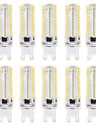 abordables -BRELONG® 10pcs 8 W 700 lm G9 / G4 Ampoules Maïs LED 152 Perles LED SMD 3014 Intensité Réglable Blanc Chaud / Blanc 220 V / 110 V