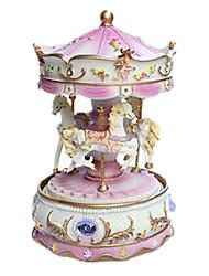 billige -Spilledåse Legetøj Nuttet Møbler artikler Hest Karrusel Tegneserie Merry Go Round Plastik Romantik 1 Stk. Ikke specificeret Fødselsdag