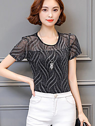 cheap -Women's Going out Casual Blouse - Geometric