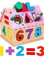 Недорогие -Конструкторы Игрушки для обучения математике Обучающая игрушка Прямоугольный Квадратный Своими руками деревянный Универсальные Подарок