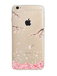 Funda Para Apple iPhone X iPhone 8 Transparente Diseños Cubierta Trasera Flor Suave TPU para iPhone X iPhone 8 Plus iPhone 8 iPhone 7