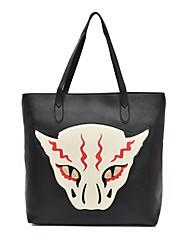 Women Bags All Seasons PU Shoulder Bag Pattern / Print for Casual Office & Career Black Gray