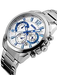 marque de luxe hommes robe chrono montre 6 mains pleine montre en acier quartz militaire montre militaire chronomètre sport étanche skmei