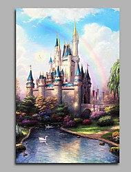 New Swan Stone Castle Modern Artwork Wall Art for Room Decoration