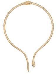 Mulheres Gargantilhas Colares com Pendentes Formato Oval Tubular Formato Animal Cobra Liga Básico Animal Personalizado Estilo Folk Jóias