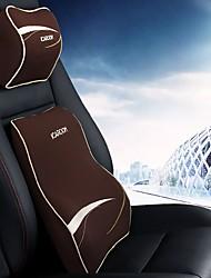 economico -Settore automobilistico Kit di cuscino per poggiatesta e cuscini Per Universali Cuscini lombari per auto Tessuto sintetico Stoffe
