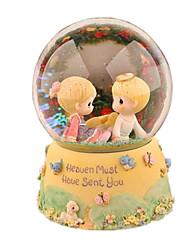 cheap -Balls Music Box Snow Globe Cartoon Furnishing Articles Unisex Gift
