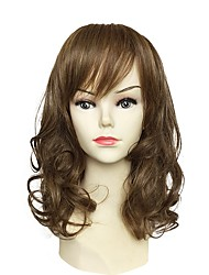 cheap -Women Synthetic Wig Capless Long Natural Wave Brown With Bangs Party Wig Celebrity Wig Halloween Wig Carnival Wig Cosplay Wig Natural Wigs