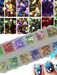 Glitter Accessories Stars Sequins 3-D Flash DIY Supplies Nail Salon Tool Hand Rests