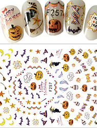 cheap -1pcs Halloween 3D Nail Stickers Sticker DIY Supplies New Year 3-D Fashion Daily High Quality