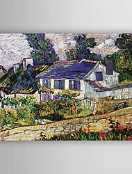 baratos -Pintados à mão Paisagem Horizontal,Nova chegada 1 Painel Tela Pintura a Óleo For Decoração para casa