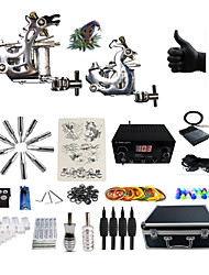 cheap -Professional Tattoo Kit 2 steel machine liner & shader 2 Tattoo Machine Inks Not Included