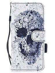 per il portabicicletta del portacarta di copertura del caso con lo stand flip modello magnetico cassa piena del corpo del cranio del cuoio
