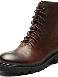 cheap -Men's Bootie Nappa Leather Fall / Winter Boots Booties / Ankle Boots Black / Brown / Party & Evening