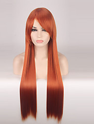 cheap -Synthetic Wig Straight Red Women's Capless Cosplay Wig Long Synthetic Hair