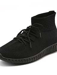 Men's Shoes Tulle Fall Winter Light Soles Athletic Shoes Fitness & Cross Training Shoes Lace-up For Athletic Black/Red Light Grey Dark