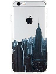 economico -Per iPhone 7 iPhone 7 Plus Custodie cover Ultra sottile Transparente Fantasia/disegno Custodia posteriore Custodia Vista della città