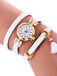 economico -Per donna Orologio alla moda Orologio braccialetto Quarzo PU Banda Casual Fantastico Nero Bianco Rosa Beige