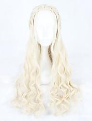 abordables -Perruques de Déguisement / Perruque Synthétique Ondulé Blond Femme Sans bonnet Perruque de Cosplay Long Cheveux Synthétiques