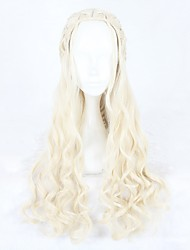 cheap -Women Synthetic Wig Capless Long Wavy Beige Blonde Cosplay Wigs Costume Wigs