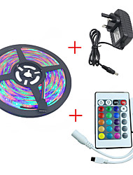 1PCS HKV® 5M 3528SMD 300LED RGB LED Strip Light Waterproof Led Strip Mini WiFi LED RGB Controller 3A Power Supply DC 12V