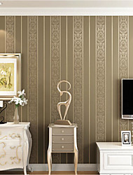 Solid Wallpaper For Home Modern Wall Covering , Non-woven fabric Material Adhesive required Wallpaper , Room Wallcovering