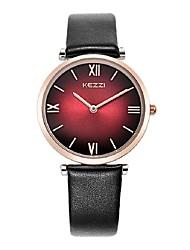 KEZZI Mulheres Relógio de Moda Quartzo Japonês PU Banda Casual Preta Branco Vermelho Cinza