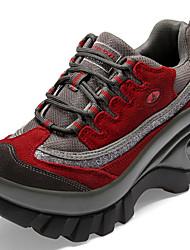 Femme Chaussures d'Athlétisme Confort Automne Hiver Daim Fitness et cross training Décontracté Soirée & Evénement Creepers Noir Rouge Rose
