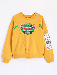 cheap -Boys' Print Blouse,Cotton Fall Long Sleeve Cartoon Yellow