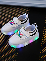 Boys' Shoes Synthetic Summer Fall Light Up Shoes Comfort Sneakers Gore LED Hook & Loop For Casual Party & Evening Green Red Black