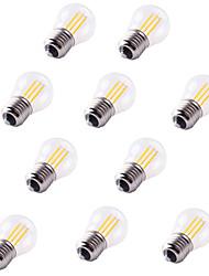 10pcs G45 4W LED Filament Bulbs 4 COB 360LM E27 Warm/Cool White Vintage Edison Bulb AC220-240V