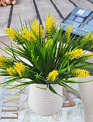 1 Branch Plastic Lavender Tabletop Flower Artificial Flowers