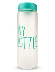 cheap -500ML  1PC Juice Water Water Bottle  Frosted plastic bottle Drinkware